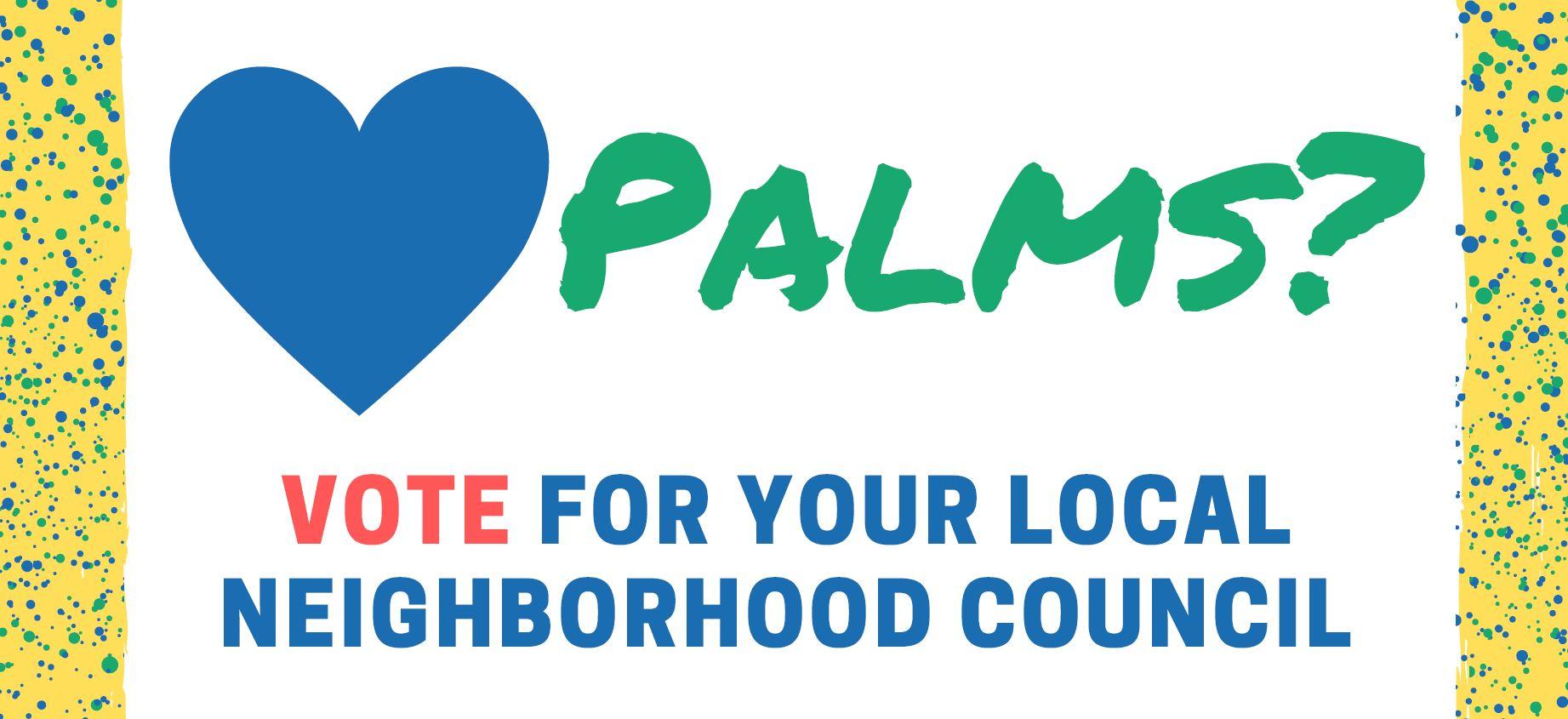 Palms Neighborhood Council Election 2019